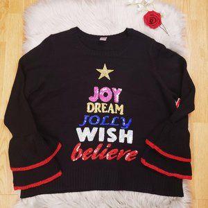 New Holiday Time Christmas Sweater XXL Black Fun